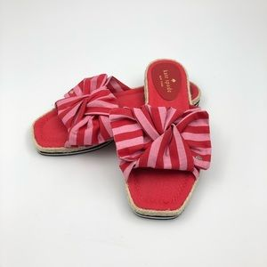 Kate Spade Catalina Espadrille Bow Sandals 6.5